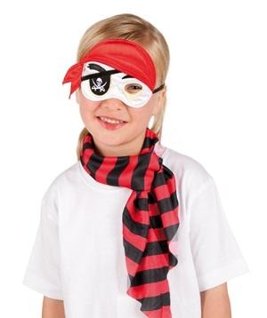 Augenmaske Pirat aus Stoff für Kinder