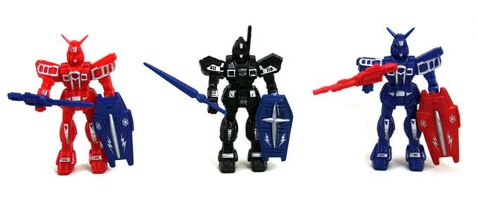 Roboter mit Waffen - mehrfach sortiert - ca 10 cm