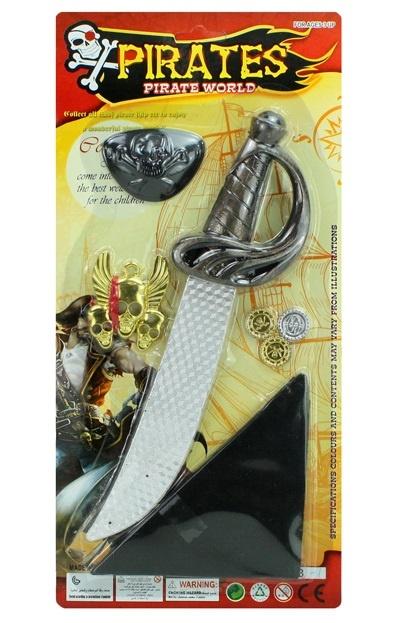 Piratenset mit Schwert auf Karte ca 38x18cm