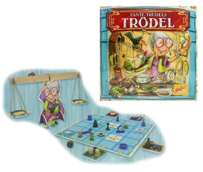 Zoch Tante Trudels Trödel Familienspiel in Box ca 29,5x29x7