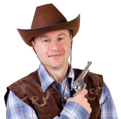 Hut - Cowboyhut Filz braun