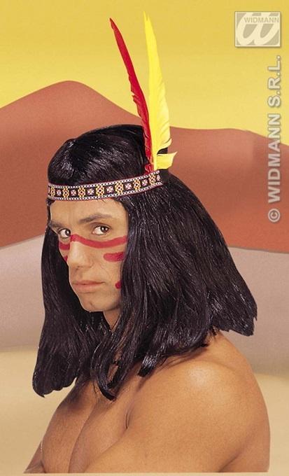 Indianerkopfschmuck mit 2 Federn