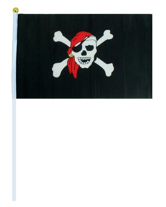 Piratenfahne - Flagge ca 21 x 14 cm