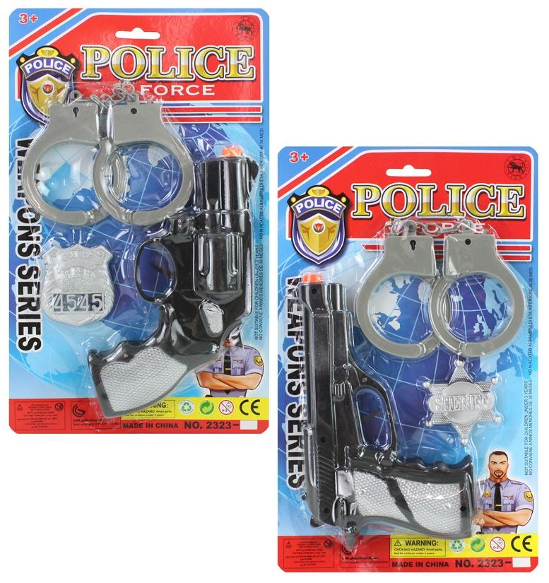 Polizeikarte 3teilig  2-fach sortiert - ca 31,5x19cm