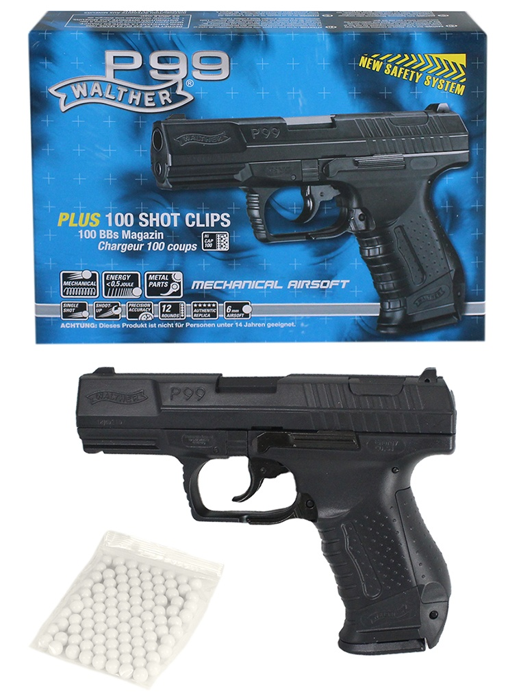 Walther P 99 Softairpistole Metall - ca 18cm