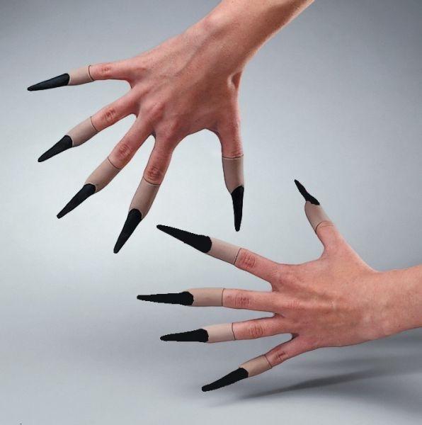 Latex-Fingernägel, schwarz, zum Aufstecken