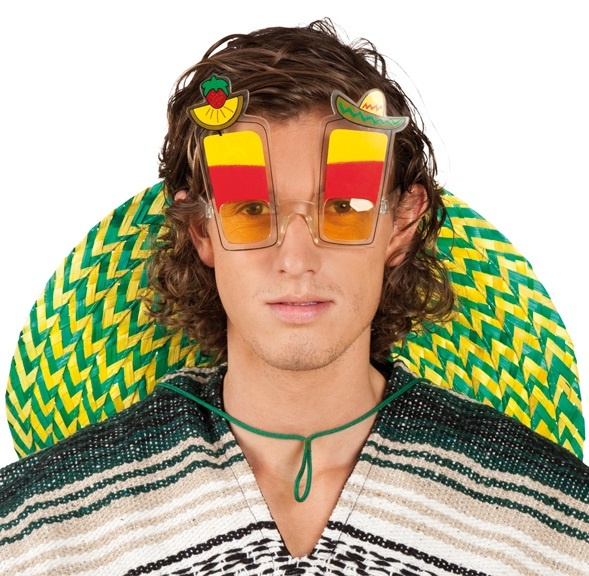 Brille - Partybrille Mexico Tequila Sunrise