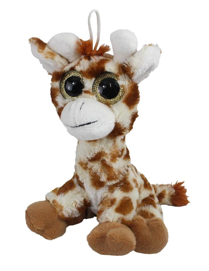Plüsch Giraffe mit Glitzeraugen - ca 18cm