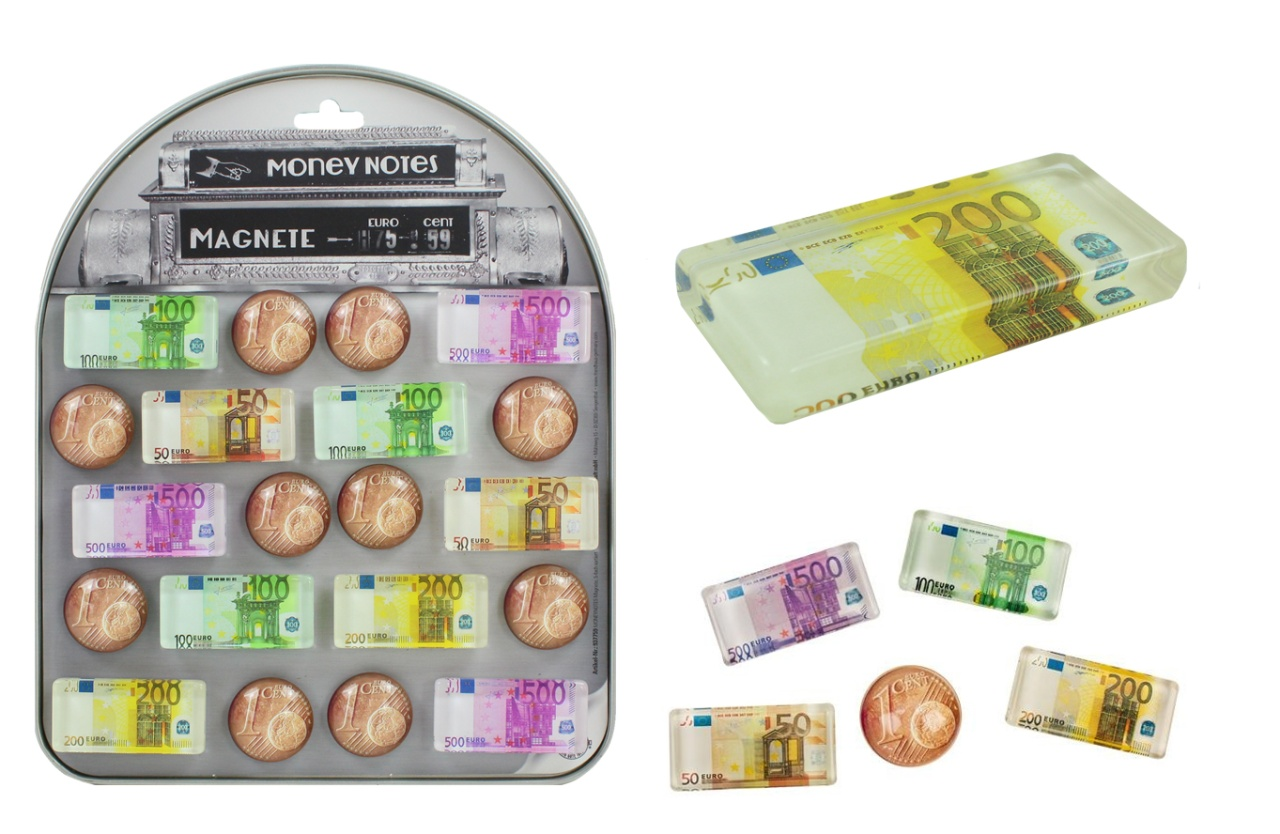 Magnete Euro Design 5-fach sortiert - ca 3,5-5,5cm