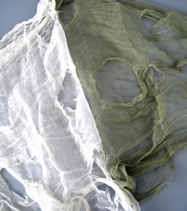 Deko-Lumpengewebe, ca. 76 x 297 cm, weiß