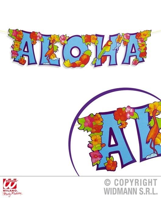 Girlande Aloha Schriftzug ca  80 x 20 cm
