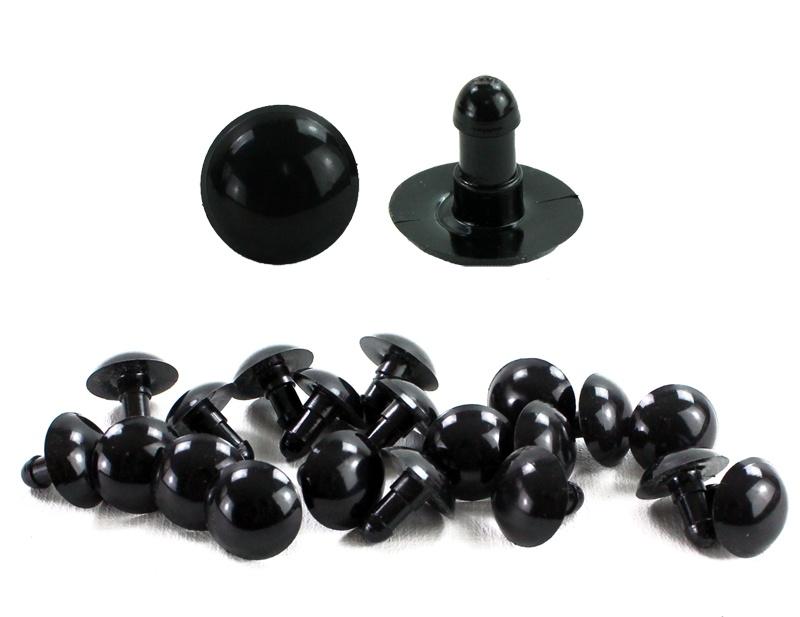Auge Bastelauge Plüschtierauge Knopfauge schwarz ca 16 mm