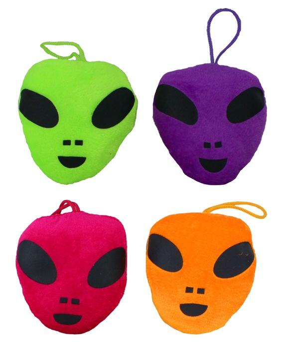 Alien Gesicht 4 farbig sortiert ca 10 cm