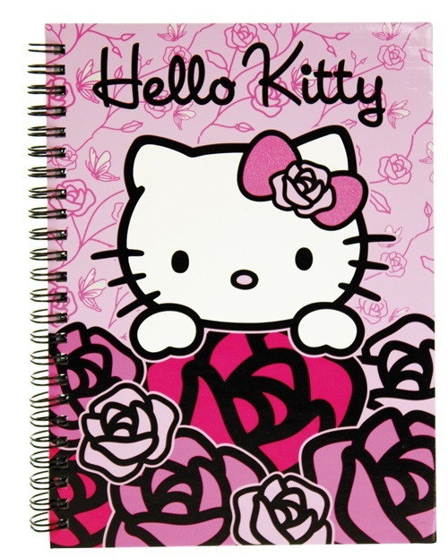 Hello Kitty Pink Roses - Spiralnotizbuch A5