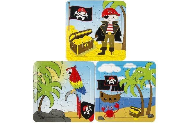 Puzzle Papierpuzzle Pirat 3 fach sortiert - ca 13,5x13cm