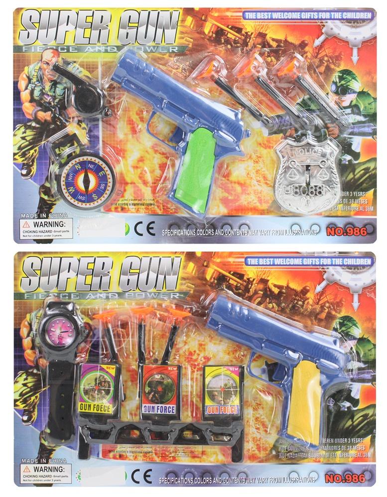 Polizeikarte mit Zubehör 2-fach sortiert ca 28,5x19cm