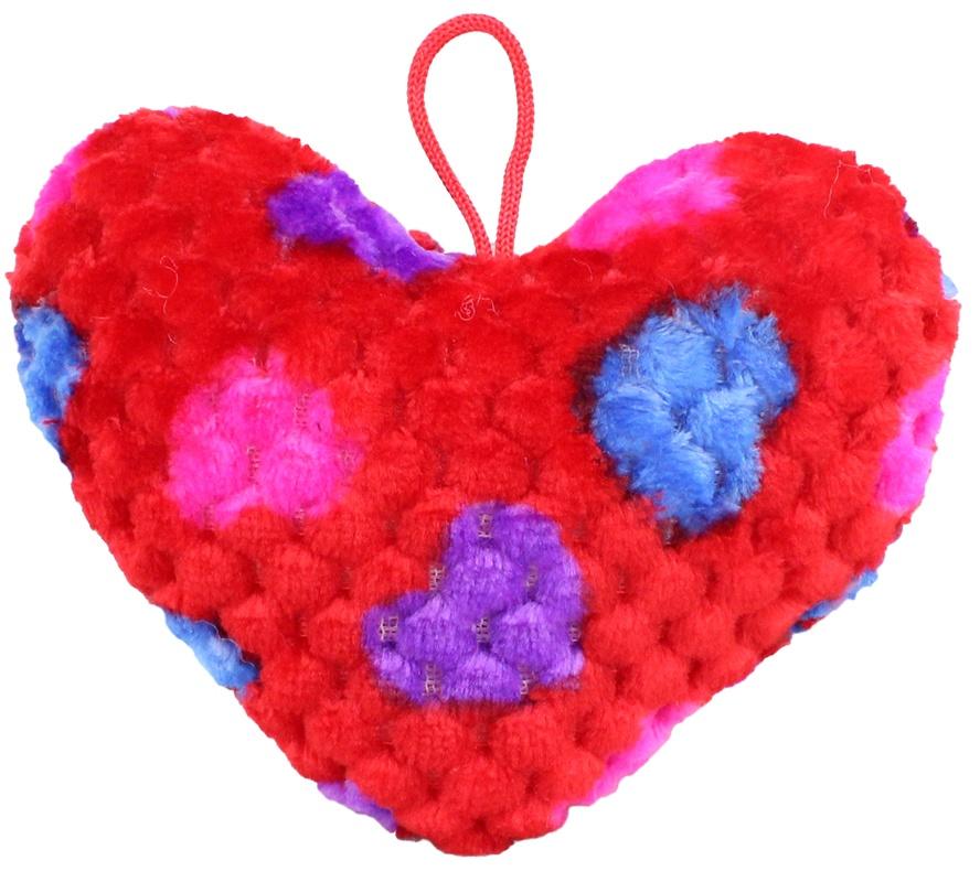 Herz Strukturplüsch ca 15 cm