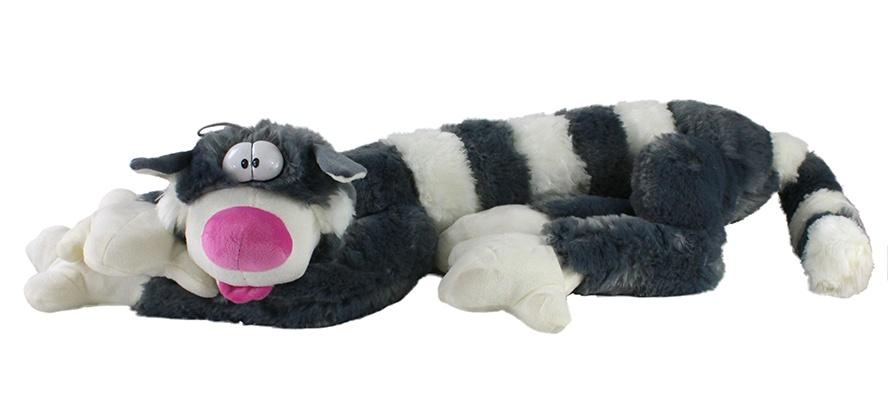 Katze liegend Comicstyle lange Arme und Beine ca 110 cm