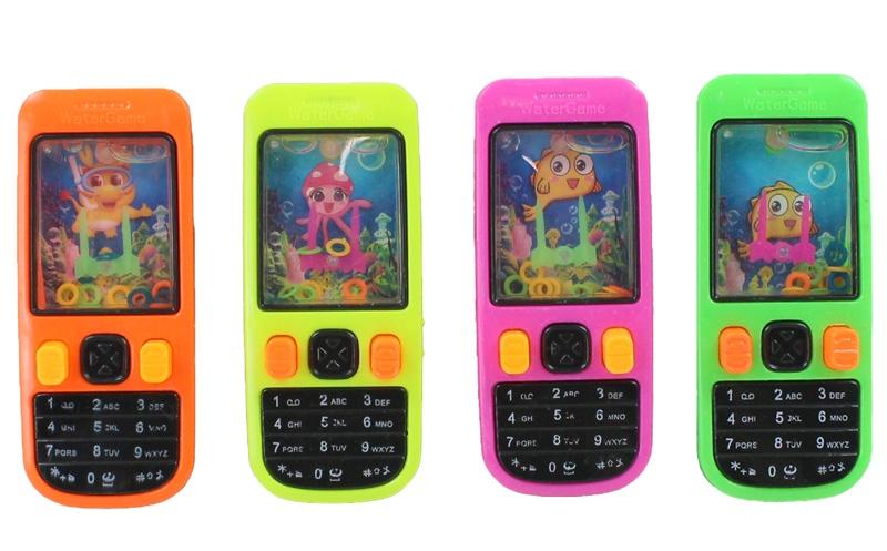 Wasserspiel Telefon Handy 4-fach sortiert - ca 10,5x4,5cm