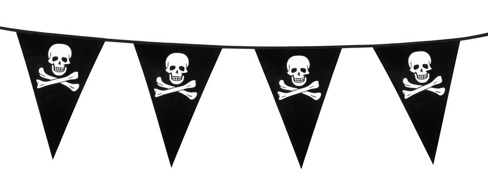 Wimpelkette - Pirat /Totenkopf ca 6 meter