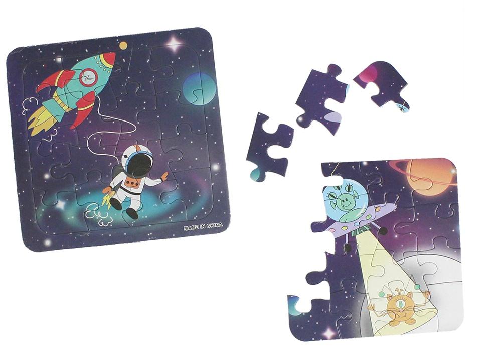 Puzzle Weltraum Space  2 fach sortiert ca 14X14X3CM