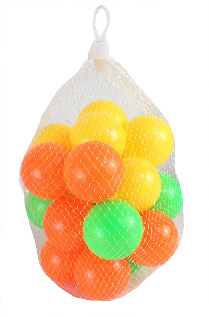 Spielbälle farbig sortiert 20 Stück im Netz Ø ca 50 mm