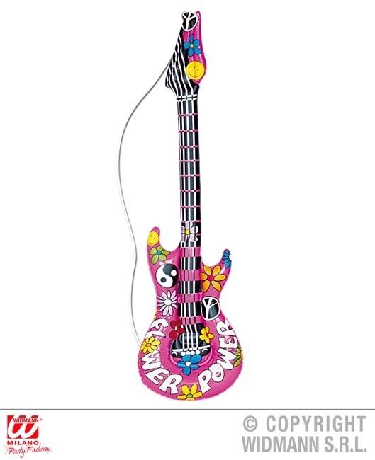 Hippiegitarre aufblasbar ca 105 cm