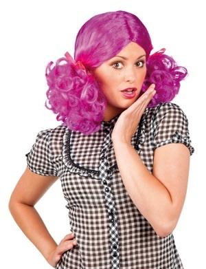 Perücke Penny Zopffrisur violett