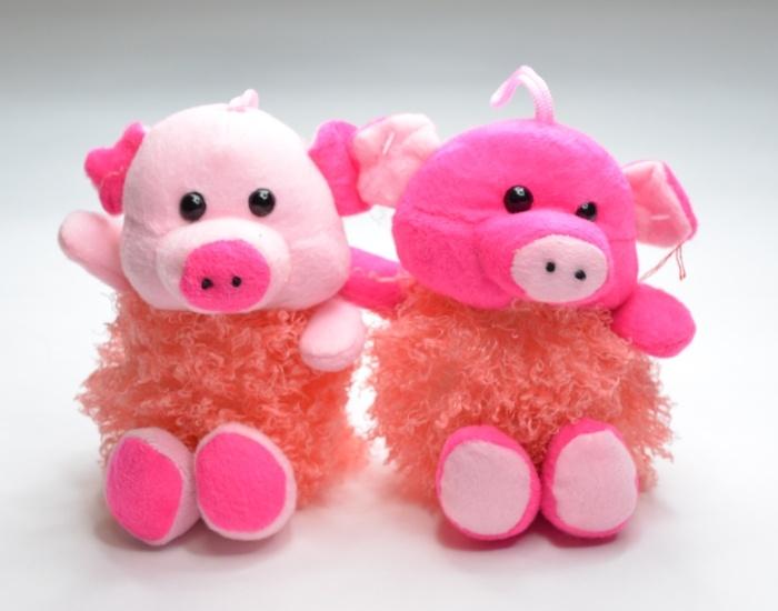 Schwein sitzend, 2-fach sortiert ca 20 cm