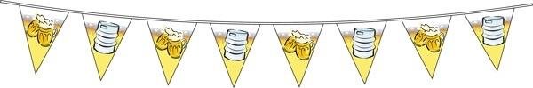 Wimpelkette - Bierfest ca 6 meter