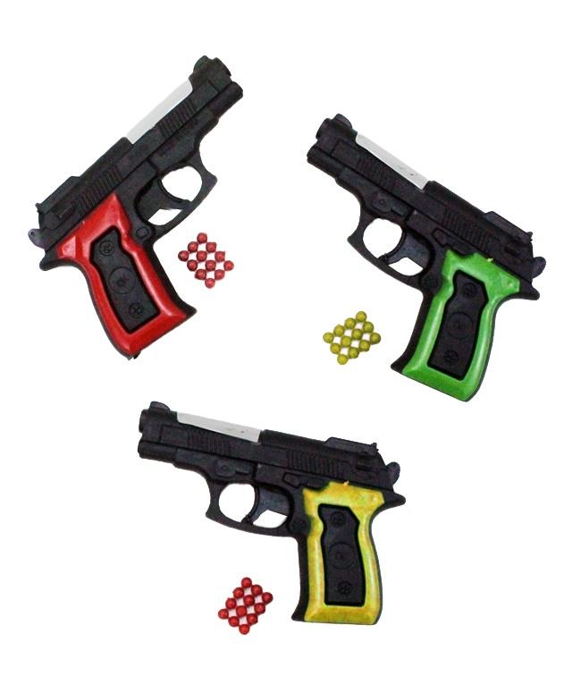 Kugelpistole schwarz/rot  0,08 Joule