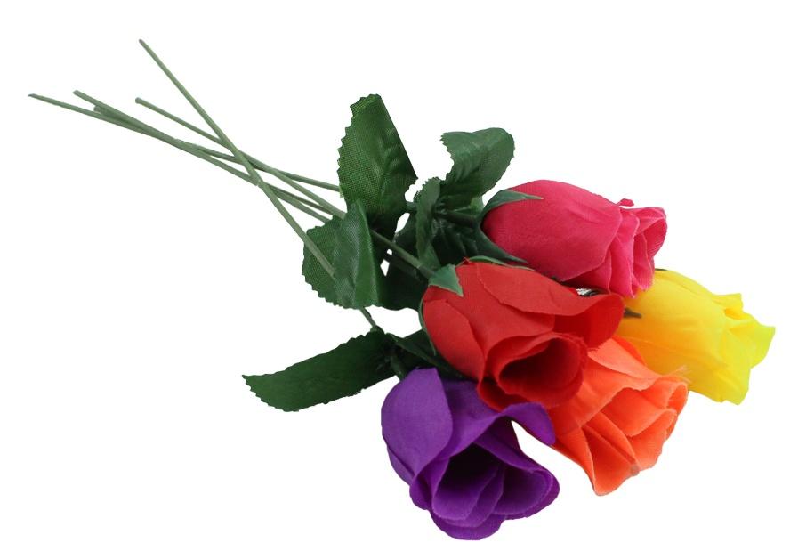 Rosenknospe 5 Farben sortiert ca 26 cm