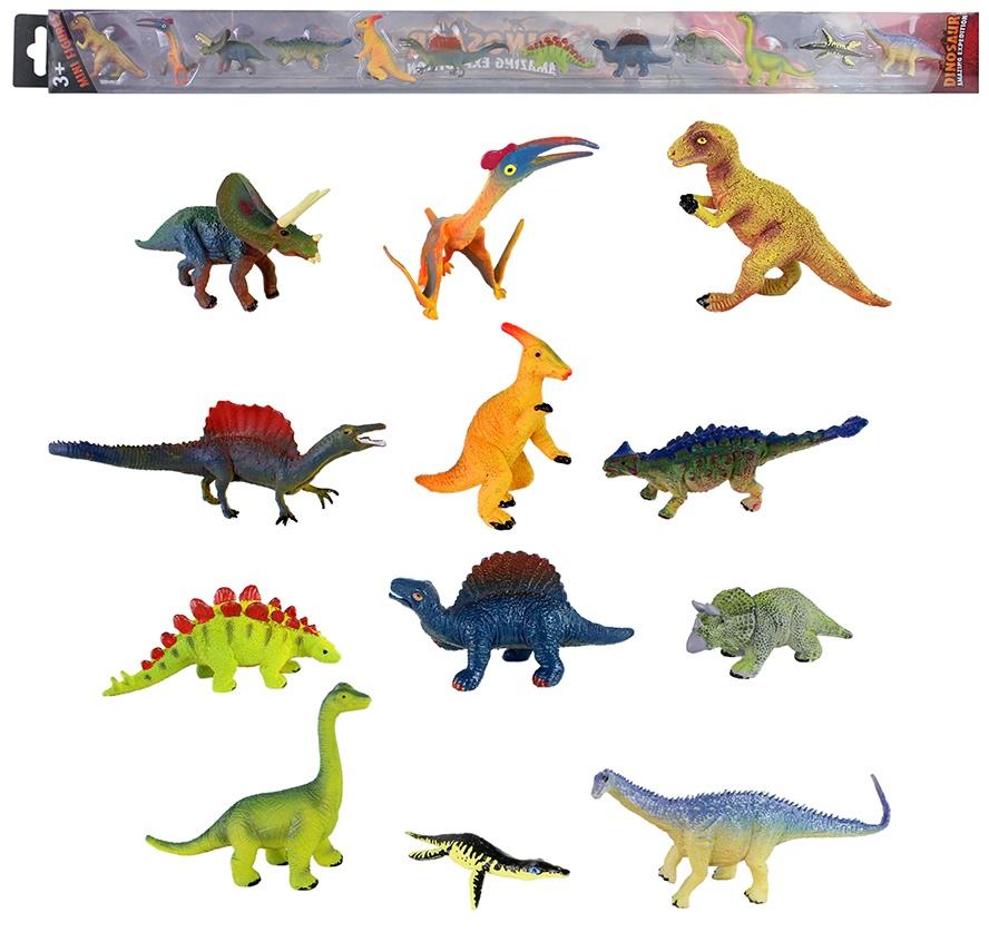Dinosaurier 12 fach sortiert in Schachtel