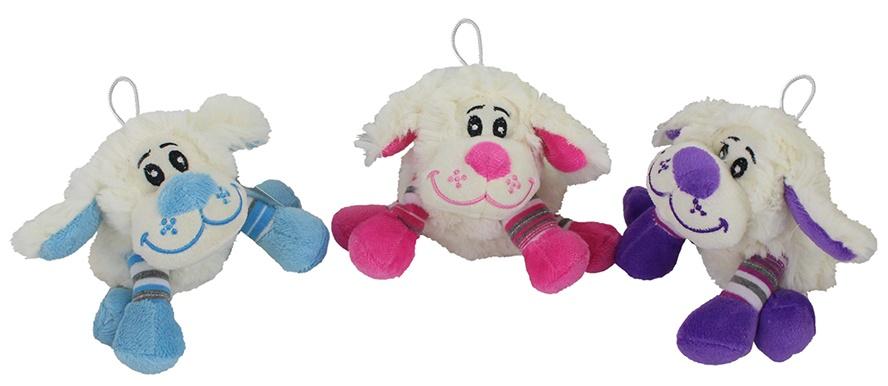 Schaf mit Ringelsocken 3-farbig sortiert ca 14cm
