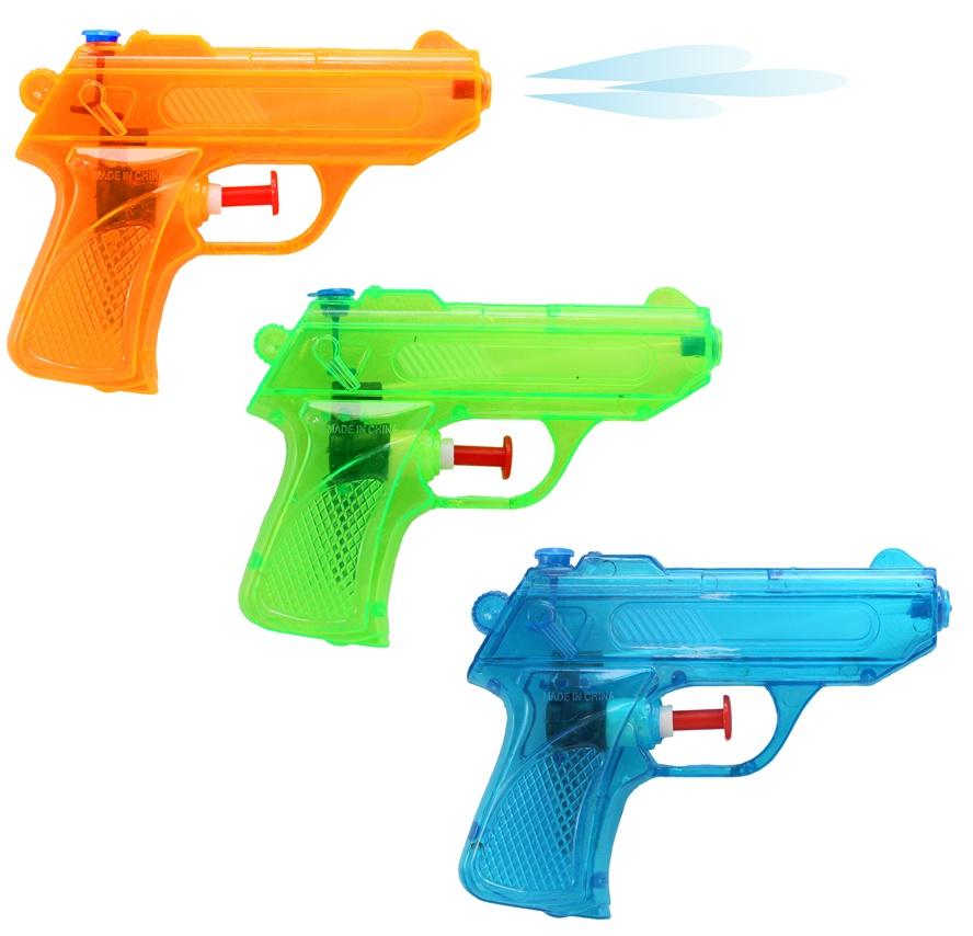 Wasserpistole 3-fach farbig sortiert ca 12 cm