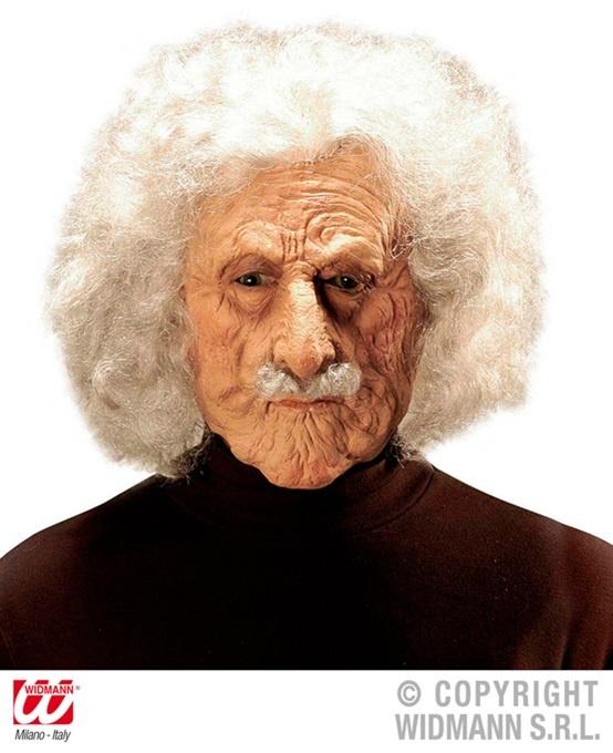 Maske Alter Mann ,Albert, mit Haaren