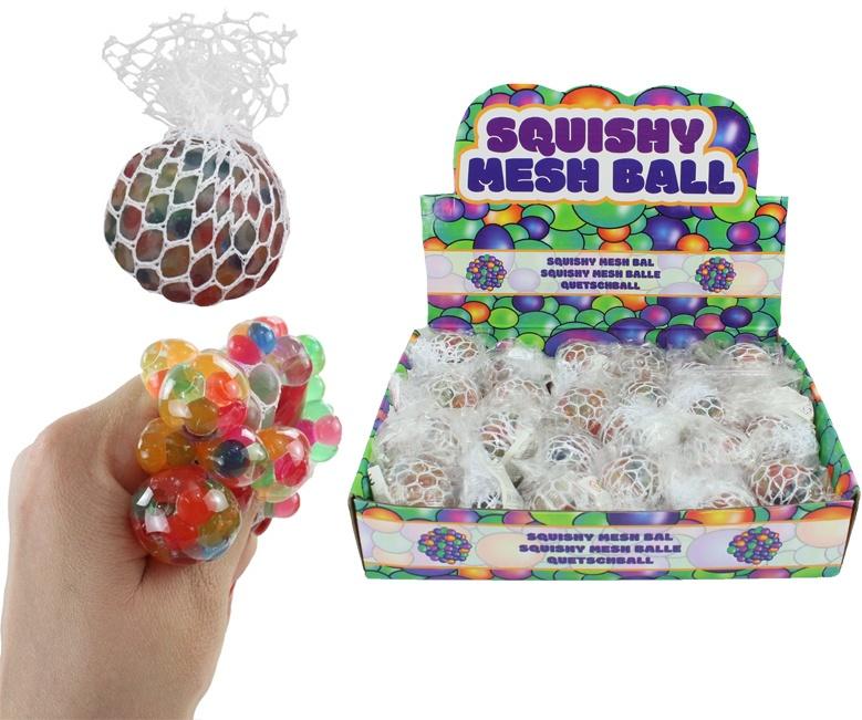 Knautschball im Netz multifarben ca 5cm