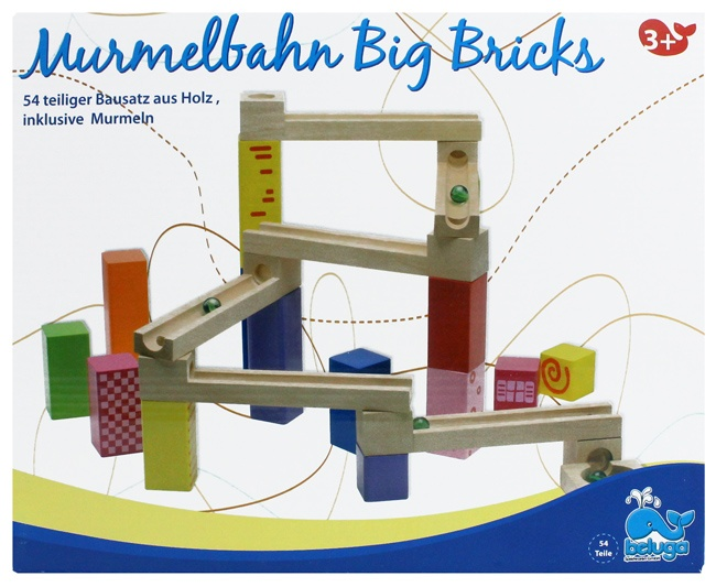 Murmelbahn von BELUGA  54 teilig - in Box ca 30,5x25x8,5cm