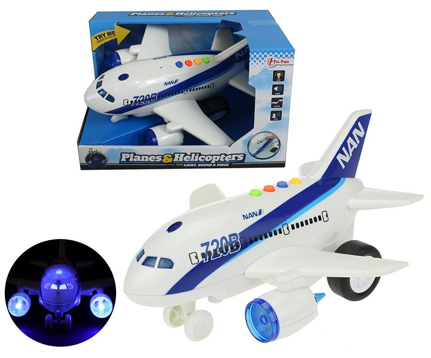 Flugzeug mit Licht, Sound und Friktion ca 25 cm