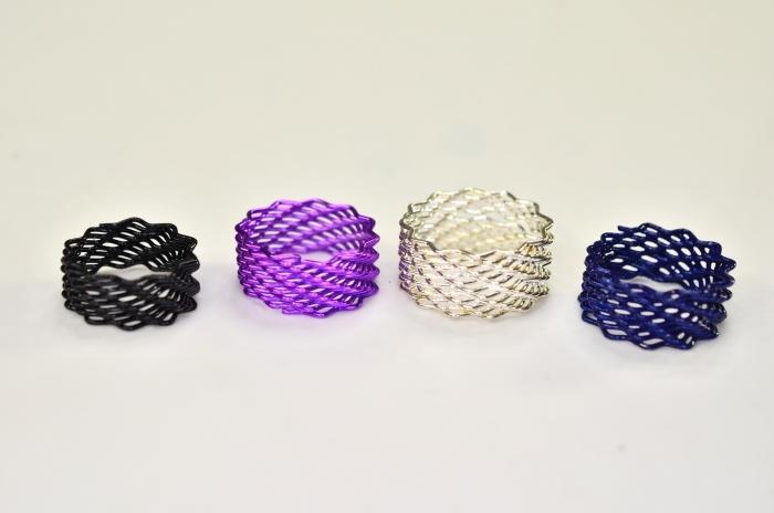 Spiralring 8 farbig sortiert