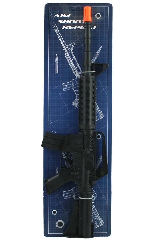 Rattergewehr an Karte ca 47,5x14cm