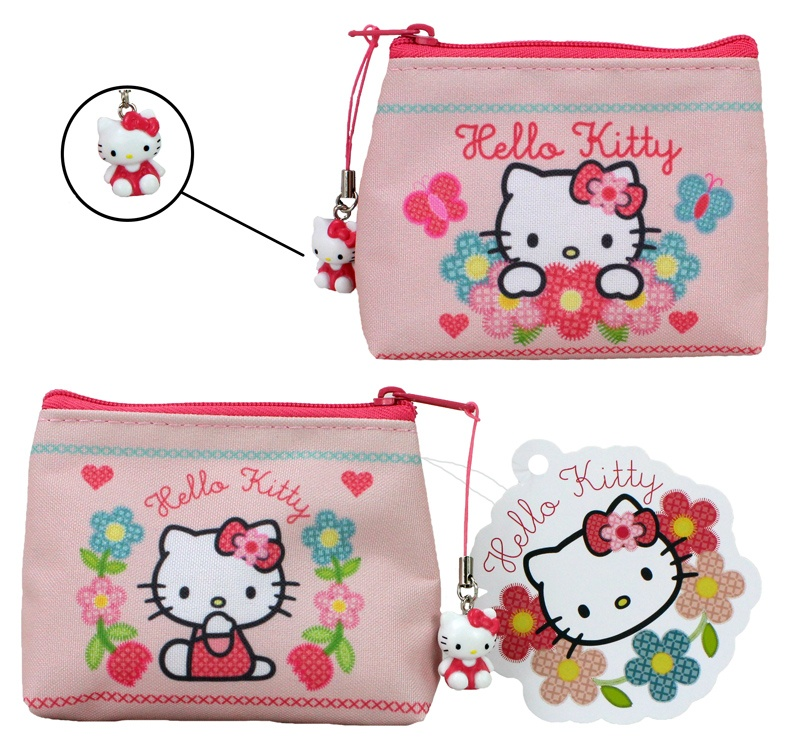 HELLO KITTY HOME SWEET HOME Geldtasche ca 11x8,5 cm