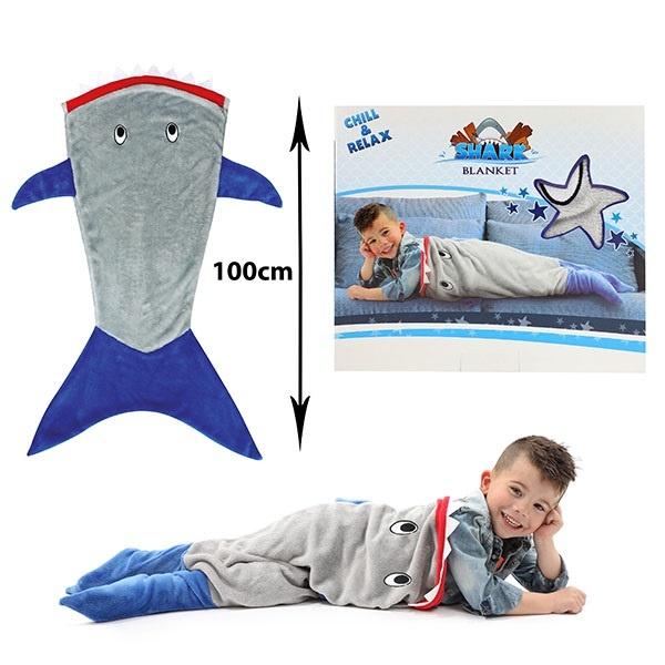 Kinderdecke Schlupfdecke Hai - ca 100cm