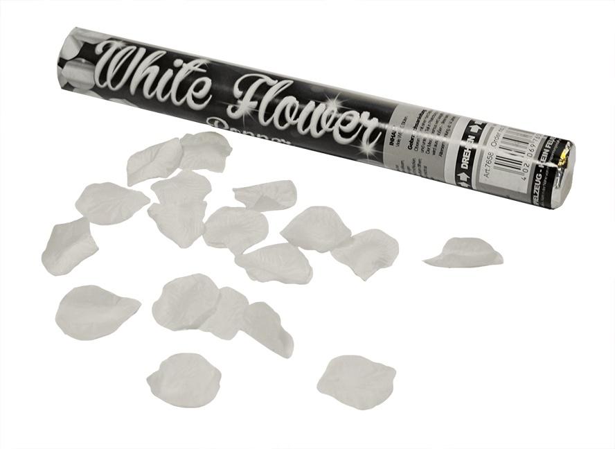 Party Popper Weiße Blüten ca 40cm