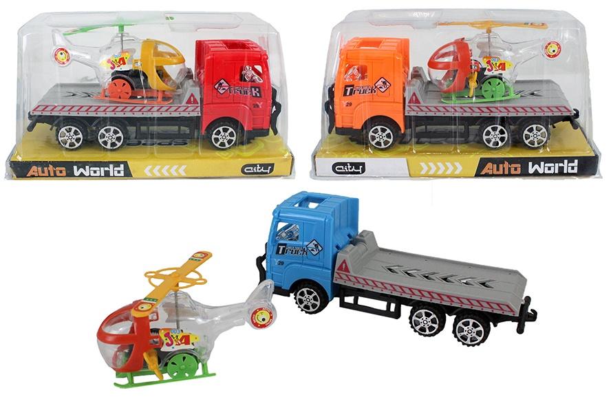 Truck mit Zubehör - 3-farbig sortiert in Box, ca 19cm