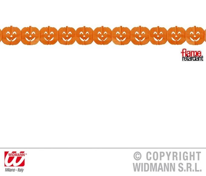 Girlande Kürbis orange ca 3 meter