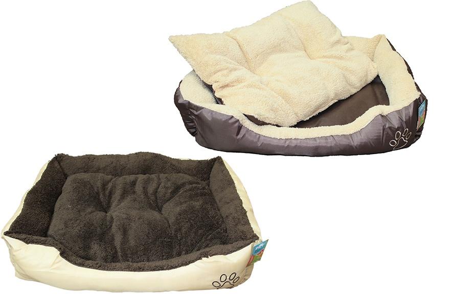 Schlafkorb Hundebett 2-fach sortiert - ca 75 x 58 x 19cm