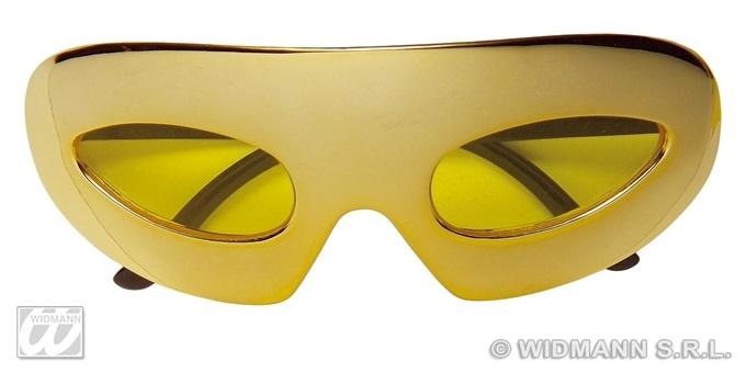 Brille - metallic gold