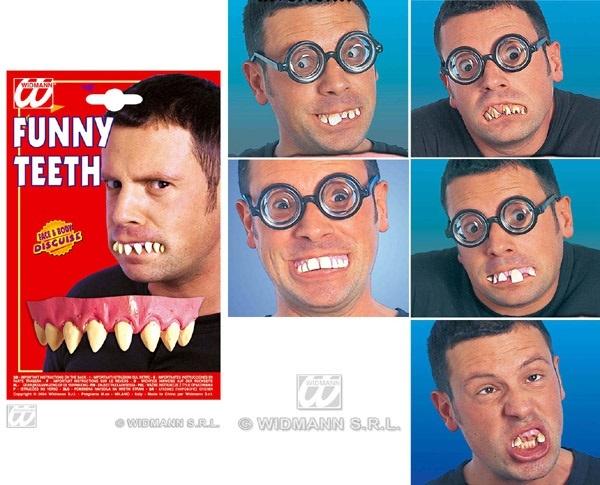 Zähne - schlechte Zähne 6-fach sortiert auf Karte ca 18,5x12
