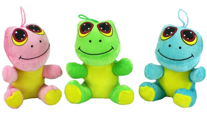 Frosch sitzend mit großen Augen 3 farbig sortiert - ca 17cm